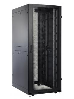 Шкаф серверный ПРОФ напольный 42U (800x1000) дверь перфор. 2 шт., черный, в сборе