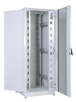 Шкаф телекоммуникационный напольный кроссовый 33U (800x800) дверь стекло, задняя дверь металл
