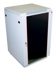 Шкаф напольный 22U (600x800) дверь стекло