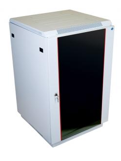Шкаф телекоммуникационный напольный 18U (600x600) дверь стекло