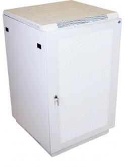 Шкаф телекоммуникационный напольный 22U (600x800) дверь перфорированная