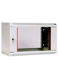 Шкаф телекоммуникационный настенный разборный 18U (600х650) дверь стекло