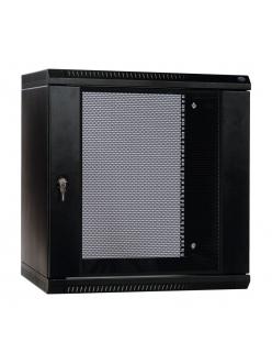Шкаф телекоммуникационный настенный разборный 6U (600х520) дверь перфорированная, цвет черный